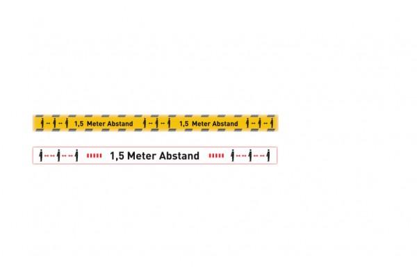 Aufkleber Abstand | Standard | 100 cm x 7 cm