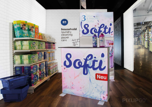 PIXLIP GO   Counter 100 cm x 100 cm indoor   einseitig